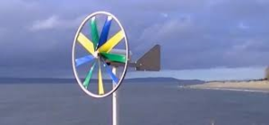 Colourful Homemade Wind Turbine